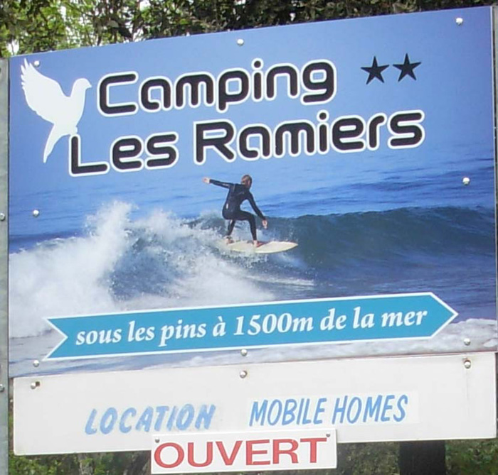 Camping surf