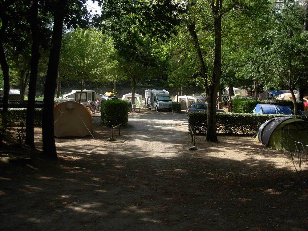 les emplacements du Camping les Ramiers Longeville/mer