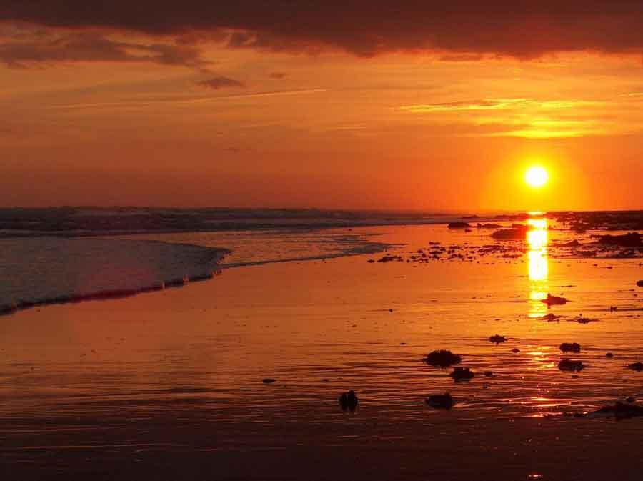 coucher de soleil longeville sur mer