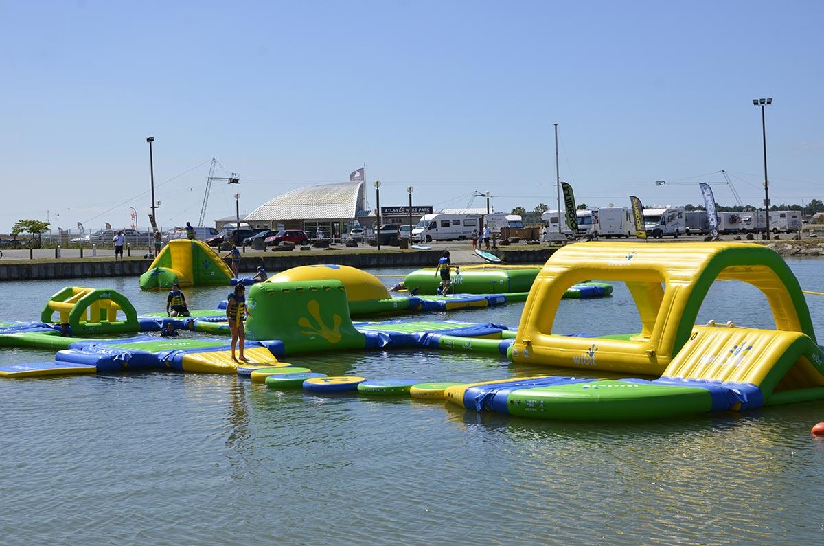 jeux d'eau Camping les Ramiers Longeville/mer