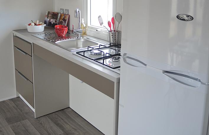 cuisine location mobilhome 4 personnes pmr Vendée