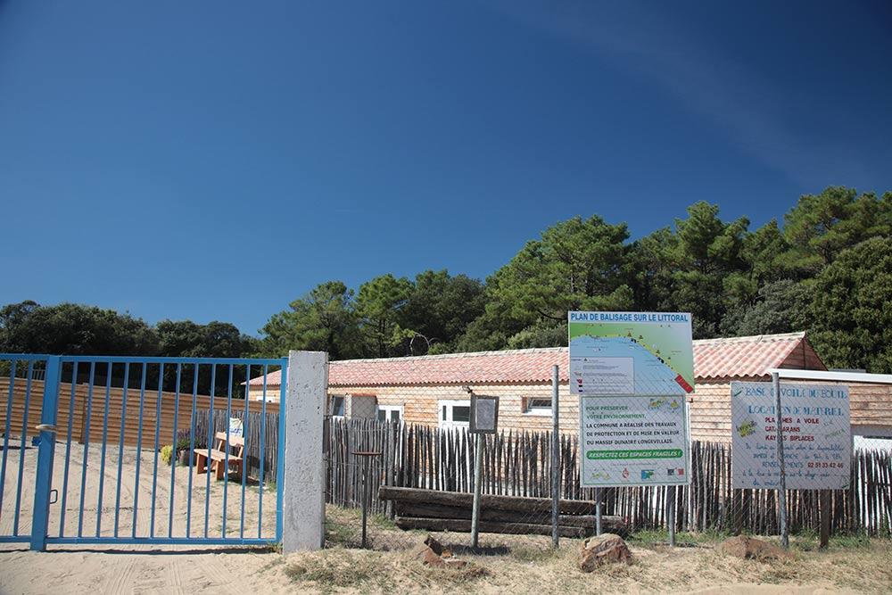 école de voile près du camping