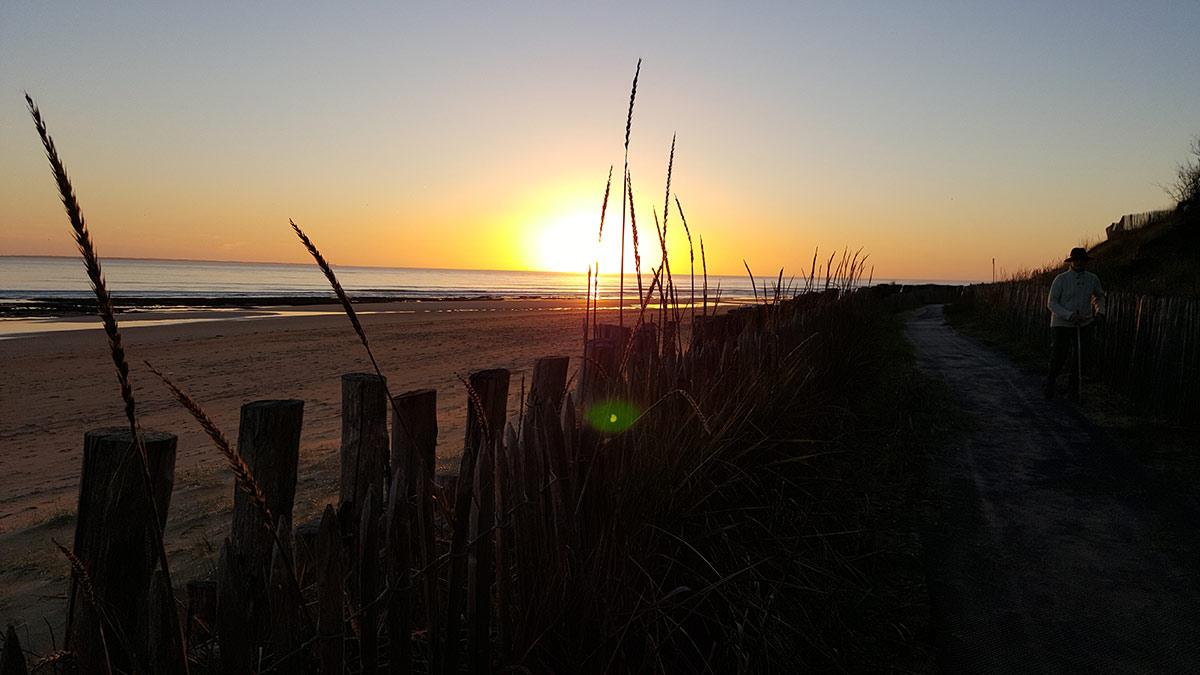soir sur la plage près du camping les Ramiers