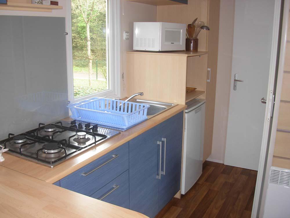 cuisine location mobilhome 4 - 6 personnes Vendée
