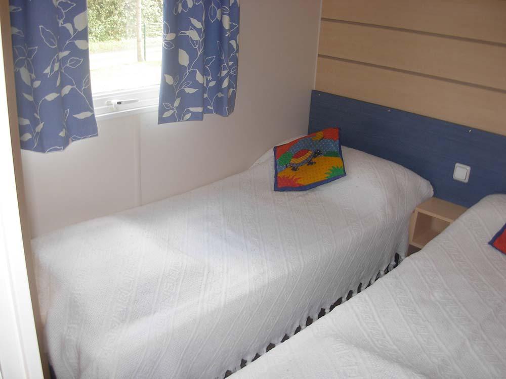 chambre enfants location mobilhome 4 - 6 personnes Vendée