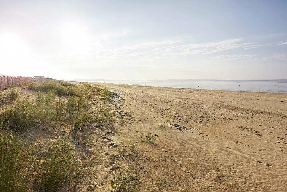 plage de la tranche sur mer près du camping les Ramiers